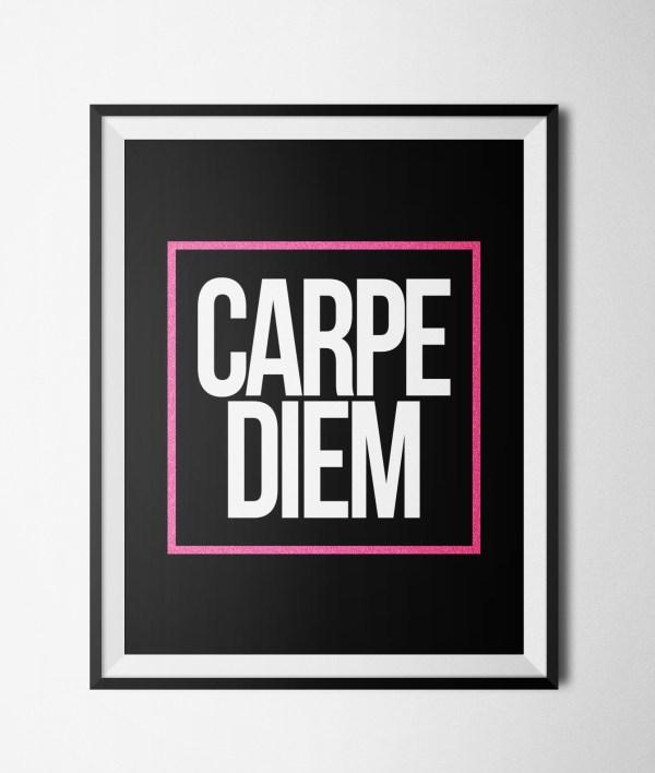 """Carpe Diem Printable 8x10"""" Poster (2 Colorways) · GlamLuxe ..."""
