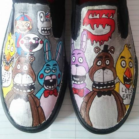 Five Nights At Freddys Hand Painted Shoes On Storenvy