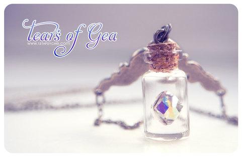 Swarovski Diamond Bottle Necklace Vial Necklace Mini