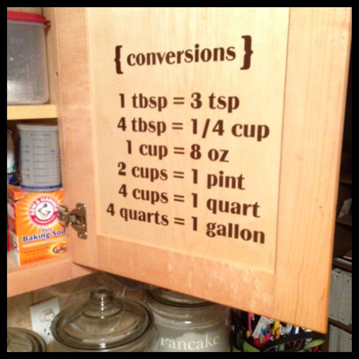 Decal Drama Kitchen Conversions 1 Tbsp 3 Tsp 4 Tbsp