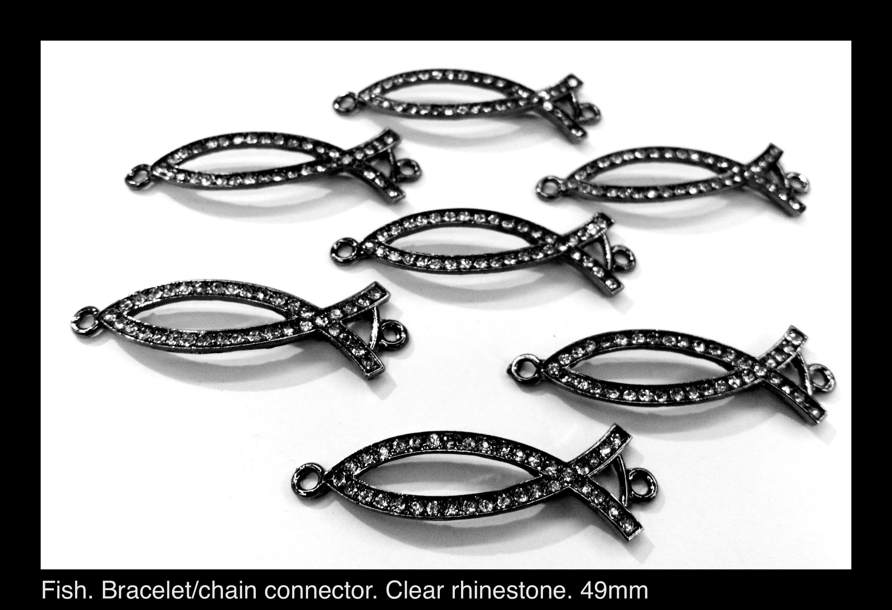 Fish Bracelet Connector 49mm 6pcs Beadshines Online
