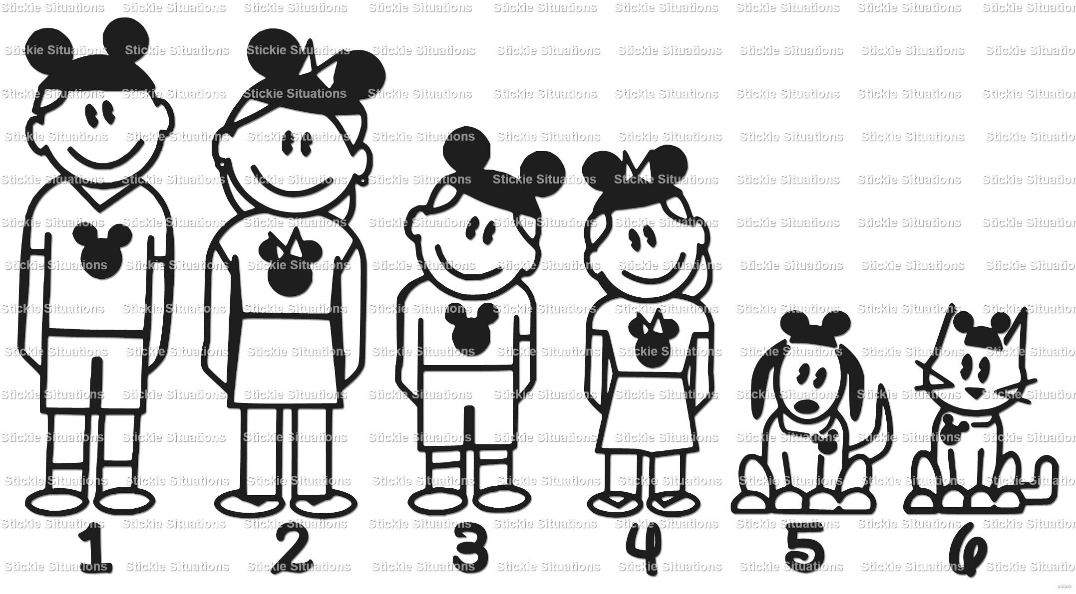 Disney Family Car Window Stickers Satu Sticker