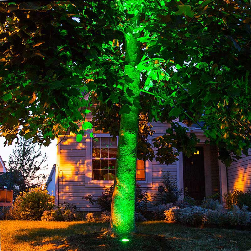rgb led in ground well light 9 watt color changing landscape light