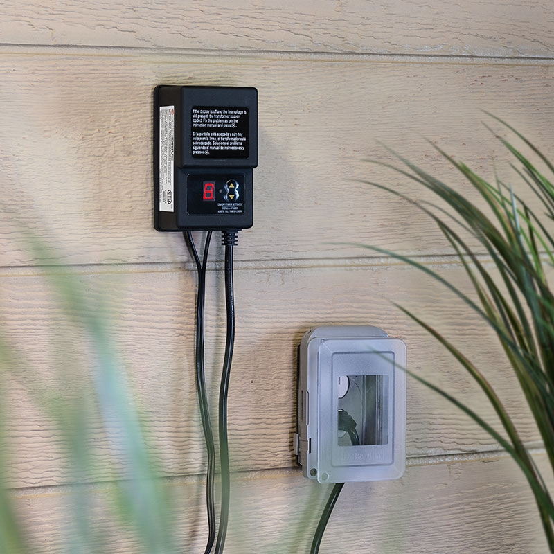 60w low voltage landscape lighting transformer diodedrive series integrated photocell and timer