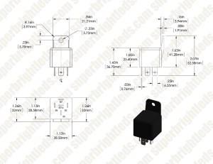 12V DC 3040A 5 PIN Universal Relay | Super Bright LEDs