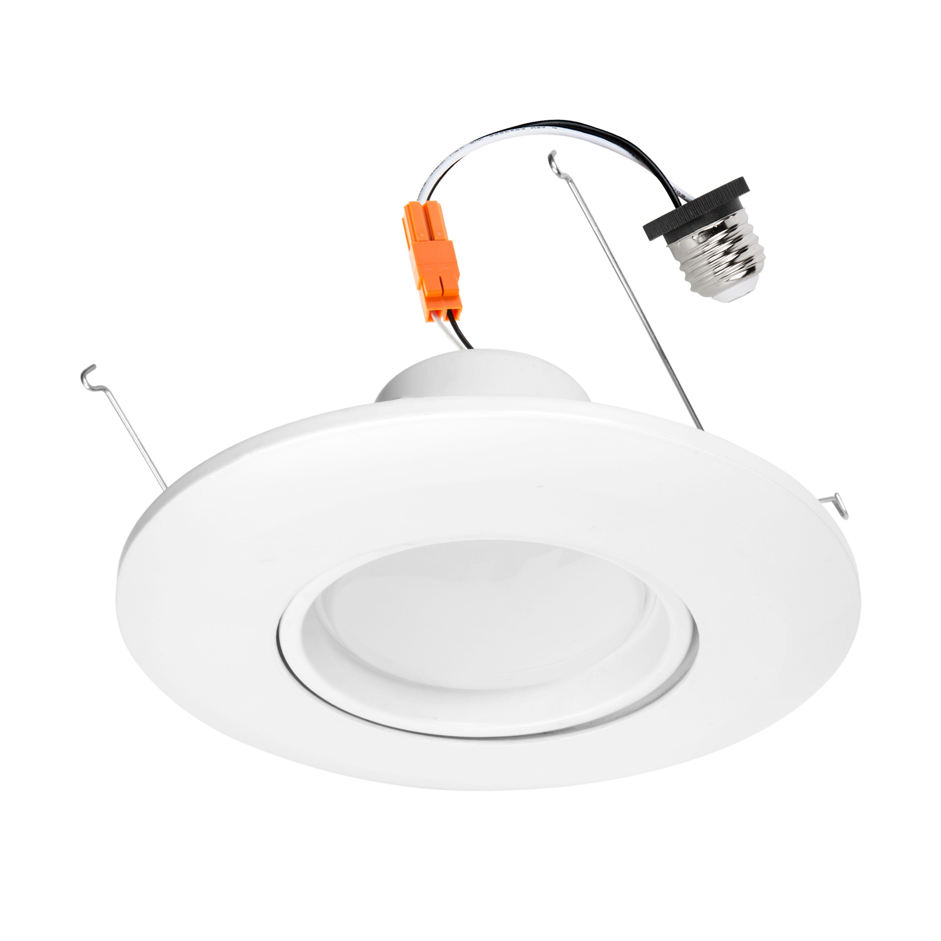 led recessed lighting kit for 5 to 6 cans retrofit led downlight w gimbal trim 75 watt equivalent dimmable 1000 lumens