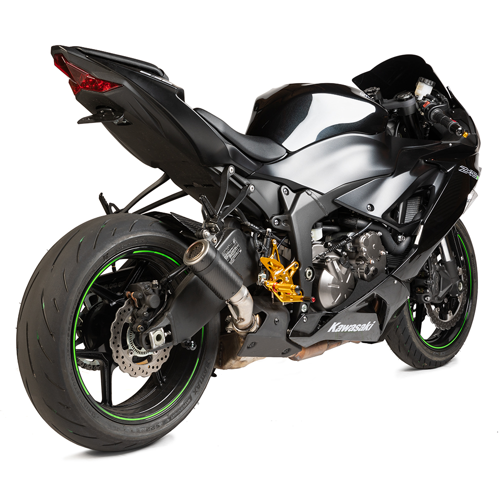 new zx6r 2009 21 mgp stinger exhaust