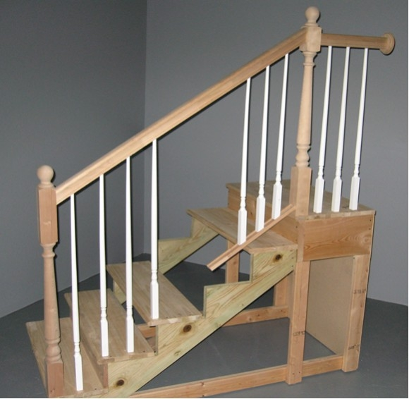 General Checklist For Inspecting Stairways And Sample Reporting | Continuous Handrail Winder Stair | Recessed | 30 Inch | Basement | Gooseneck | 90 Degree