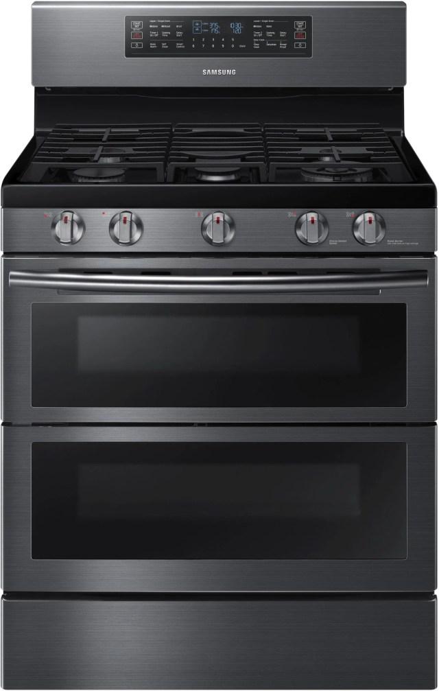 samsung 30 free standing gas range fingerprint resistant black stainless steel nx58k7850sg
