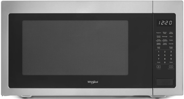 whirlpool countertop microwave black on stainless wmc50522hs