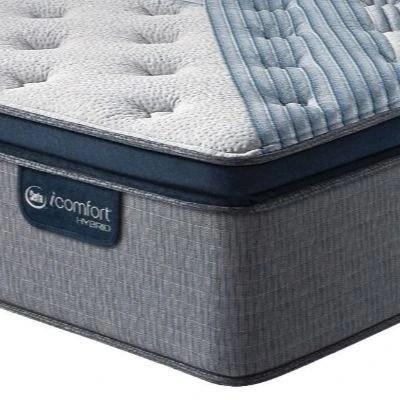 serta icomfort hybrid blue fusion 1000 plush pillow top king mattress 500821653 1060