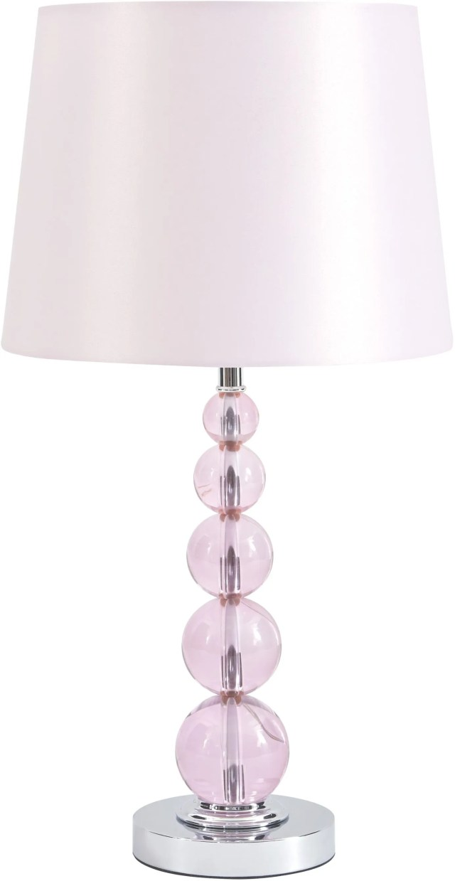 signature design by ashley letty pink table lamp l857664