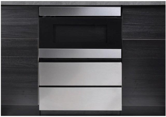 sharp 24 stainless steel under the counter microwave drawer oven pedestal skmd24u0es