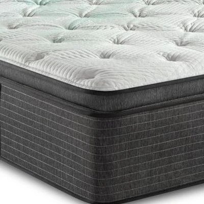 beautyrest harmony cayman plush hybrid pillow top queen mattress 700811059 1050