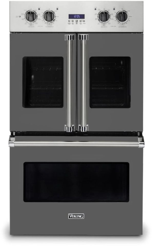 viking 7 series 29 5 damascus grey professional built in double electric french door wall oven vdof7301dg
