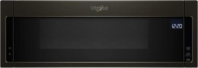 whirlpool over the range microwave black stainless wml75011hv