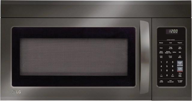 lg 1 8 cu ft black stainless steel over the range microwave lmv1831bd