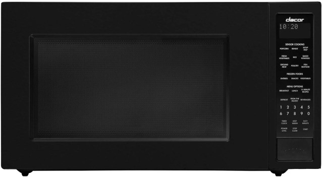dacor heritage 24 black countertop microwave dmw2420b c