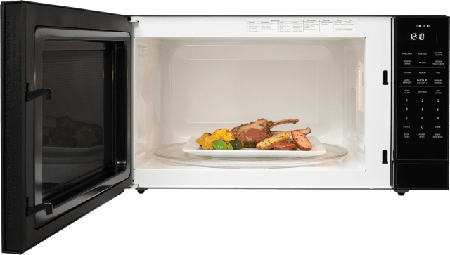 open box wolf built in microwave oven black ms2412118286