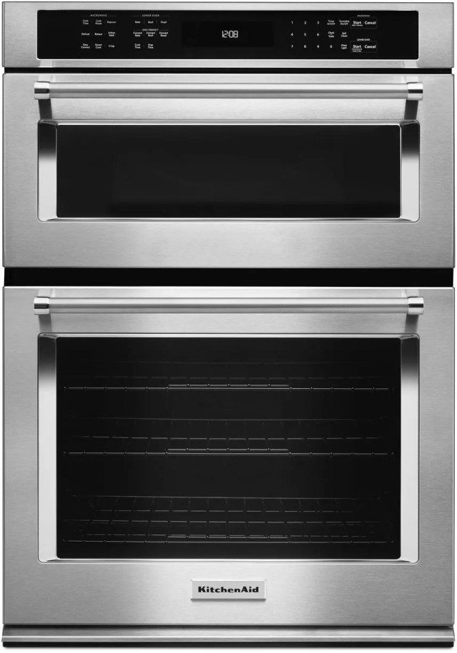 kitchenaid 30 stainless steel electric oven microwave combo built in koce500ess