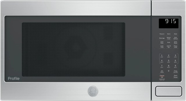 ge profile 1 5 cu ft stainless steel countertop convection microwave oven peb9159sjss