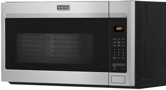 maytag 1 9 cu ft fingerprint resistant stainless steel over the range microwave mmv1175jz