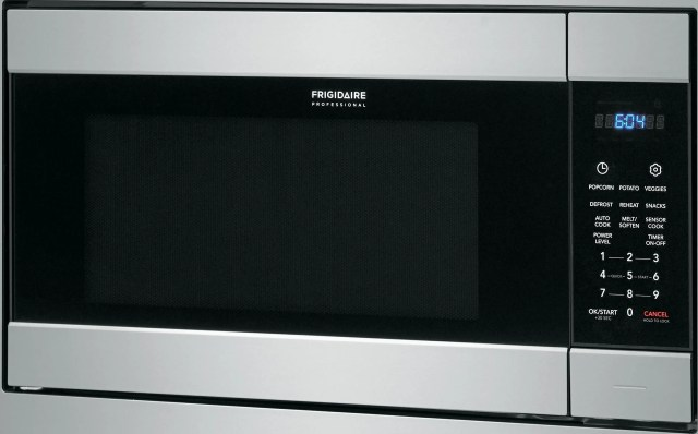 frigidaire professional 2 2 cu ft stainless steel built in microwave fpmo227nuf
