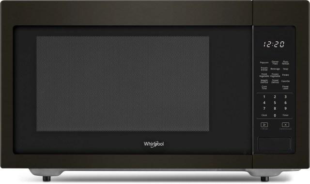 whirlpool countertop microwave fingerprint resistant black stainless steel wmc30516hv