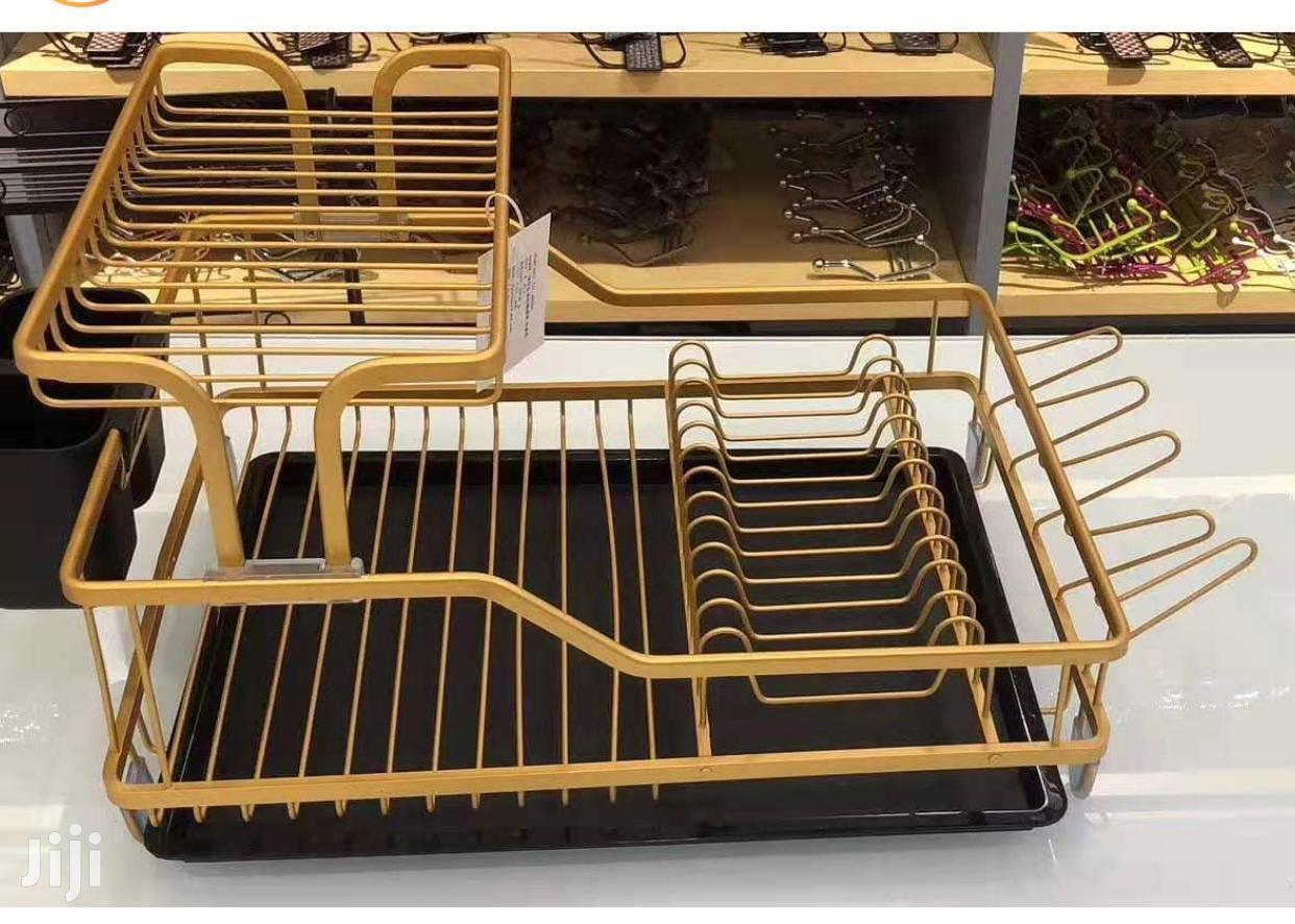 gold dishrack dish drainer