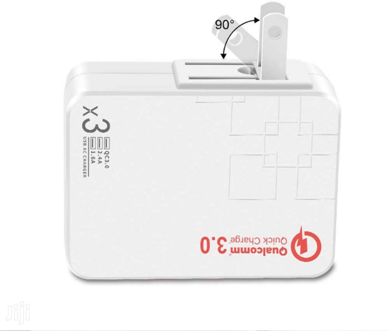 Wall Charger Fast Charge 38w 3 Port Travel Wall Fast