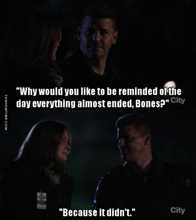 And it never will end, because Bones will live in our hearts forever. Thank you for these twelve years! ❤