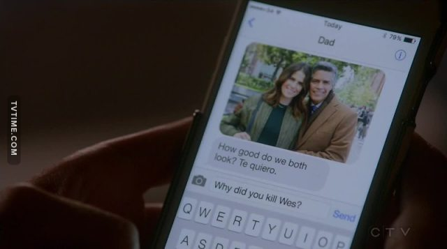 OH SHIT!!!  HOW DID LAUREL KNOW THAT HER DAD KILLED WES???