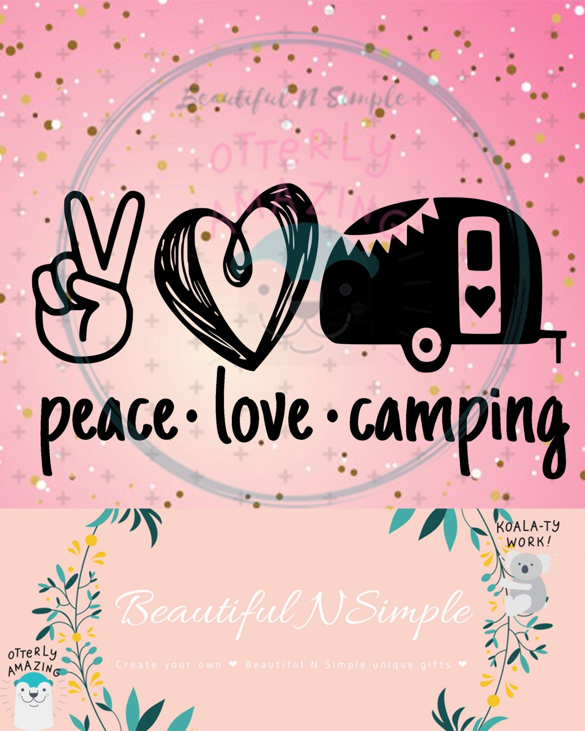 Download Peace Love and Camping SVG and DXF File Camper, Peace ...