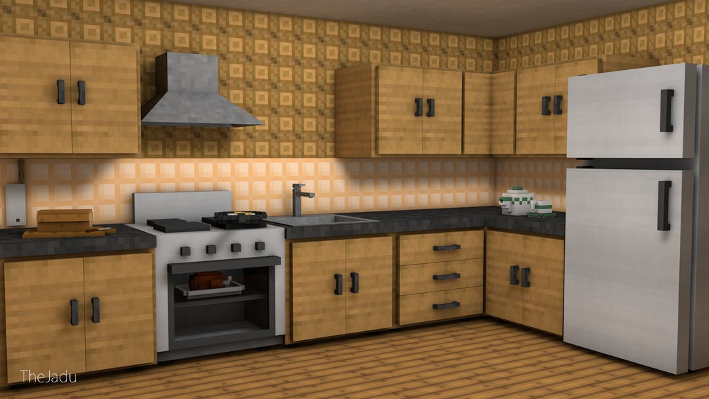 minecraft kitchen pack by thejadu taganimationz on kitchen kitchen design ideas inspiration ikea id=85262