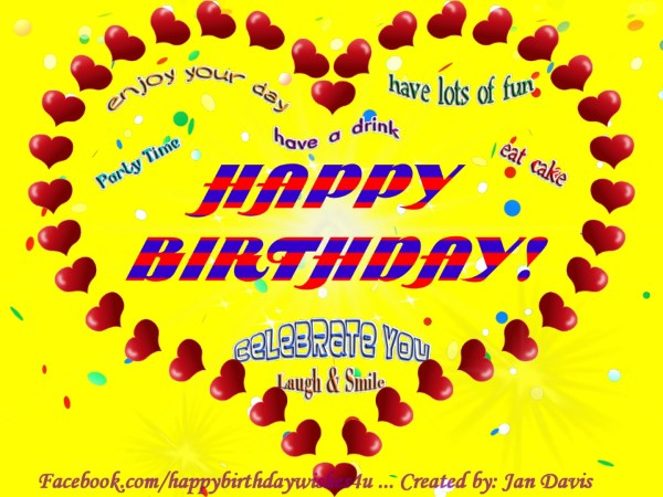 Lots Of Hearts Animated Happy Birthday Wishes 4U Animated Happy Birthday Wishes4U