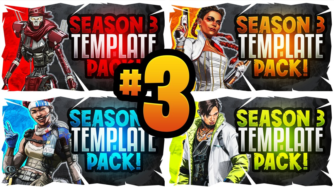 Download Apex Legends YouTube Thumbnail Template Pack #3 - Seas ...