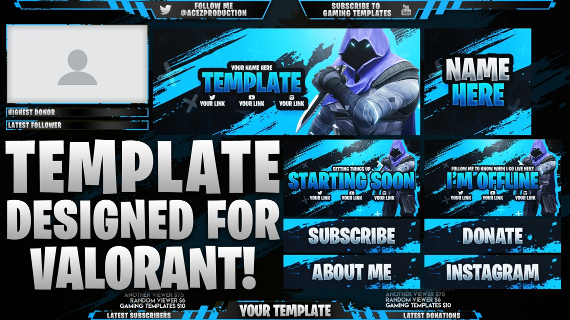 Download Valorant Ultimate Twitch Live Stream Essentials Templa ...
