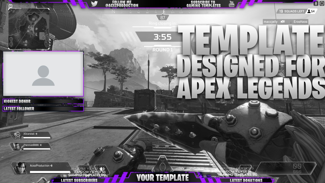 Download Live Stream Overlay Template Pack - Apex Legends - Pho ...