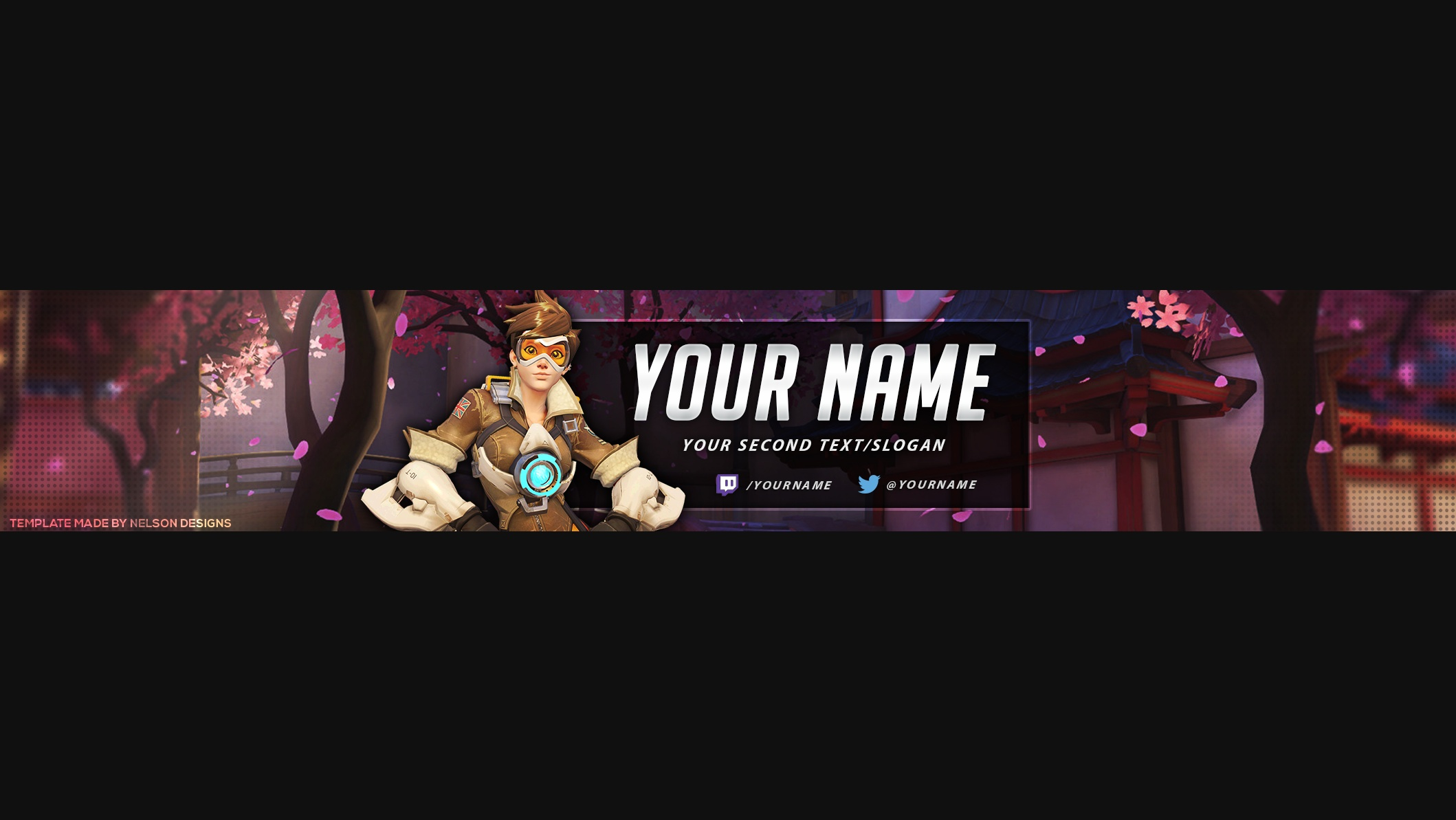 Overwatch YouTube Banner Template   Tristan Nelson Overwatch YouTube Banner Template