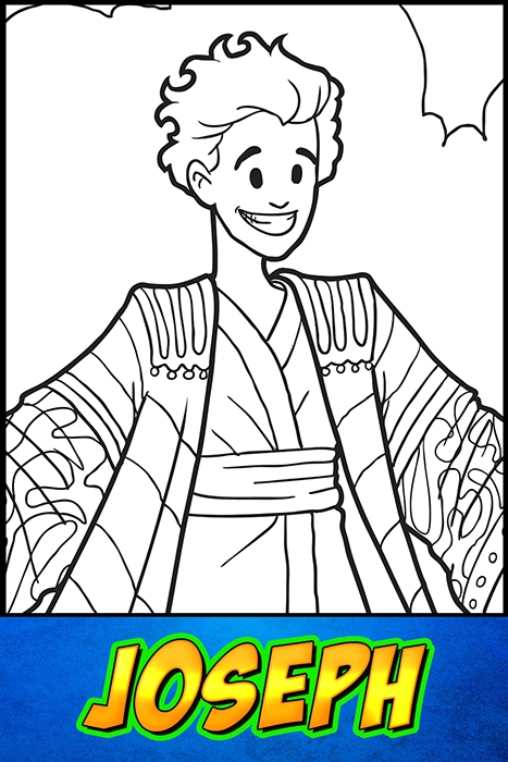 The Heroes Of The Bible Coloring Pages Joseph Bibleheroes Art Store