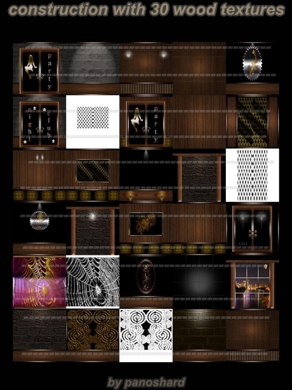 Construction With 30 Wood Textures Imvu Room Panoshard2
