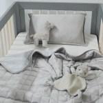 Baby Velvet Comforter Decorator Pillow Grey Lorraine Lea