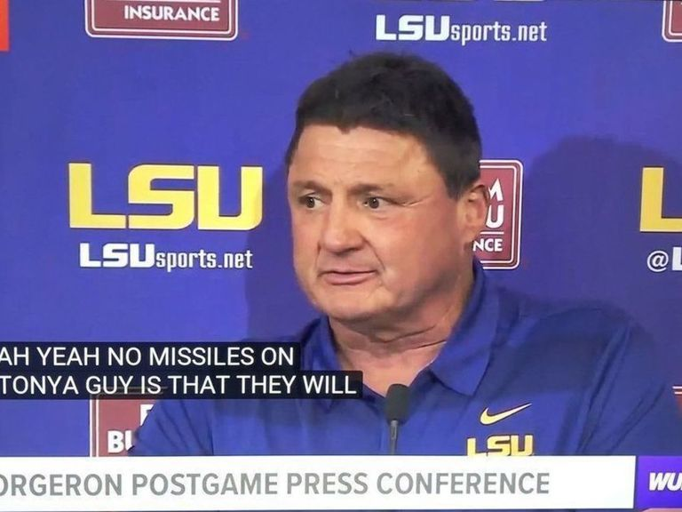 Closed captioning can't keep up with Ed Orgeron | theScore.com