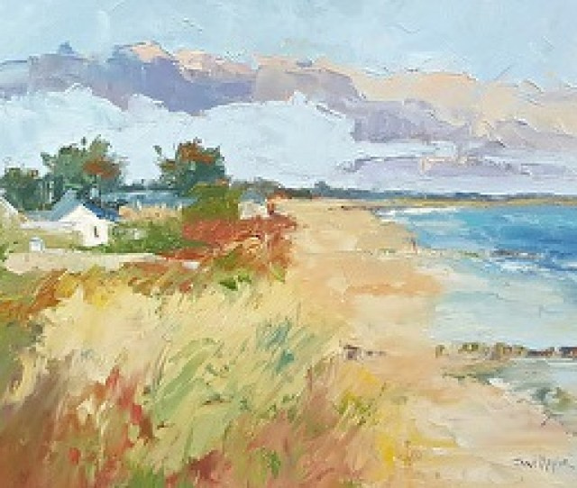 Cold And Crisp November Farewell Rosslare By Jane Meyler Oil