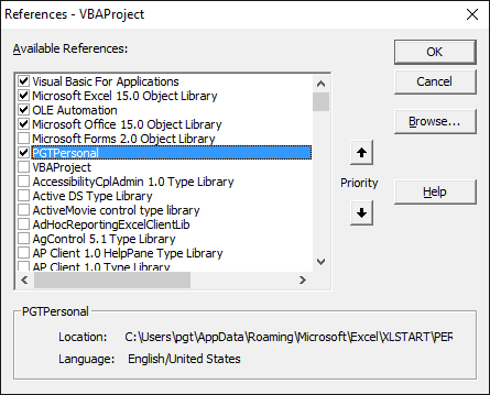 Creating A Reference To Personalxlsb For Udfs