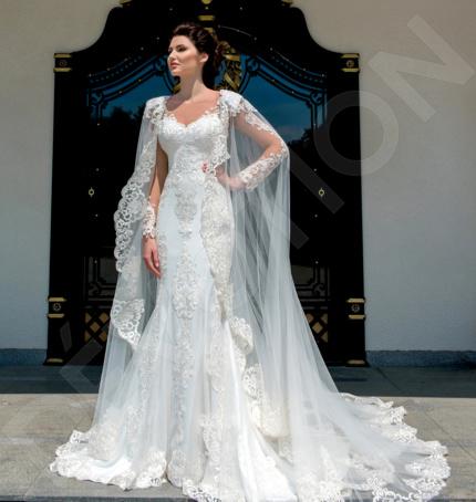 Lucille Elegant Lace Wedding dress Milk | Devotiondresses.com