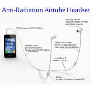 FC15 AntiRadiation Stereo airtube headset 35mm for iPhone white
