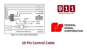 Federal Signal Siren Power Harness 10 Pin Cable PA300 690009