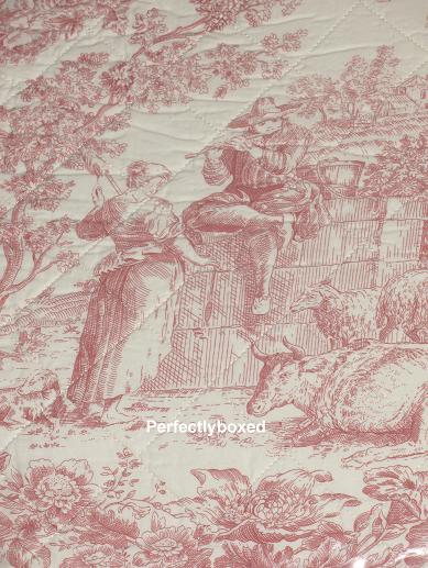 Toile De Jouy Bedspreads Pink King Wwwperfectlyboxedcom