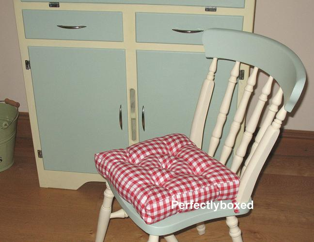 Red Gingham Seat Pads At Wwwperfectlyboxedcom